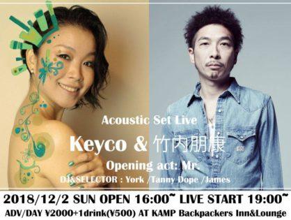 LIVE:Keyco&竹内朋康 Acoustic Set Live